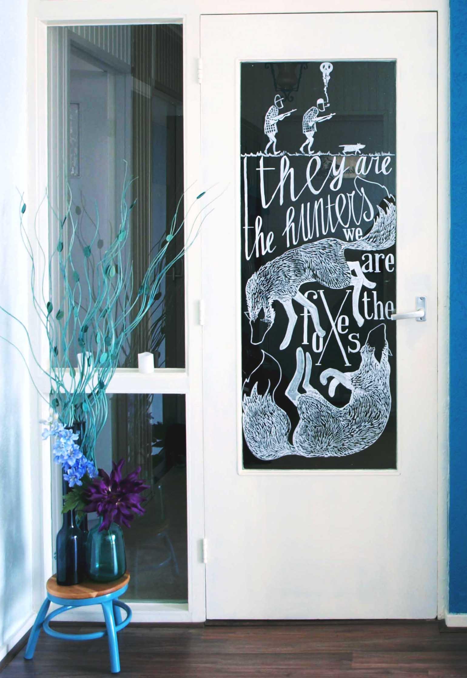 raamtekening woonkamer deur