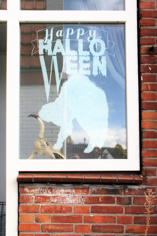 raamtekening Halloween thema